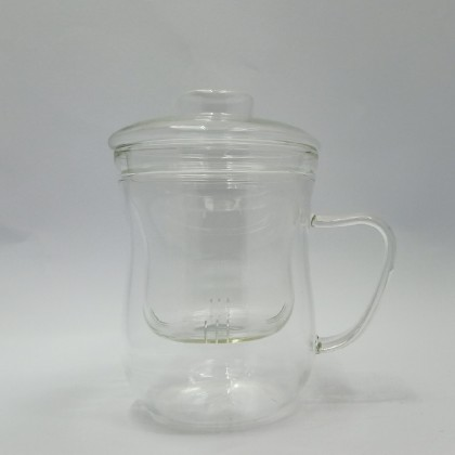 350ml double wall tea cup wave design