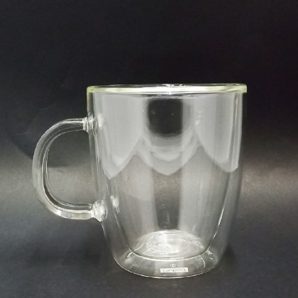 450ml double wall cup with handle