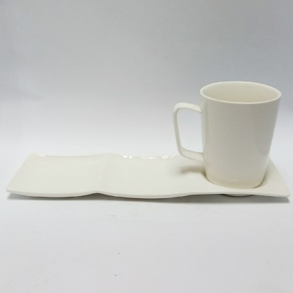 Coffee Cup Set - 10.5in plate + 355ml