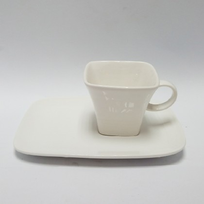 Coffee Cup Set - 7.0in plate + 130ml
