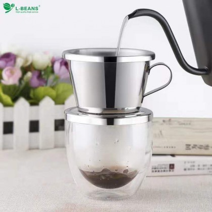 Coffee Drip Pot (Stainless Steel Filter)