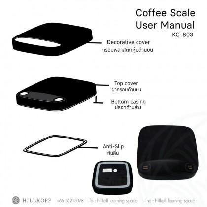 LED Coffee Scale Black Silicone Rubber