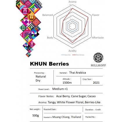 Hillkoff Coffee Khun Berries - 500g